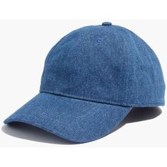 MADEWELL Denim Baseball Cap (33 AUD) ❤ liked on Polyvore featuring accessories, hats, denim, madewell, ball cap hats, ball cap, baseball caps and baseball cap hats