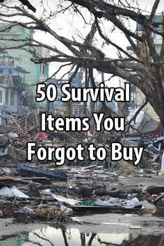 100 Survival Items You Forgot To Buy Even hardcore survivalists can overlook things. In this post I want to mention 50 survival items that you might have forgotten to buy. Survival Items, Urban Survival, Homestead Survival, Wilderness Survival, Camping Survival, Outdoor Survival, Survival Prepping, Survival Supplies, Survival Quotes