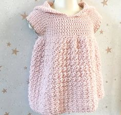 Baby Clothes Patterns, Crochet Baby Clothes, Cute Baby Dresses, Yarn Sizes, Hooded Dress, Dress Gloves, Yarn Brands, Jacket Pattern, Baby Sewing