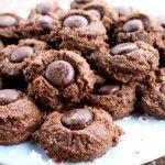 Double Chocolate Thumbprint Cookies  almond flour & coconut flour