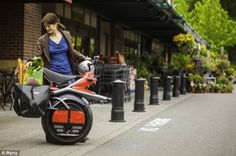 The Ryno can be fitted with bicycle pannier to carry luggage - and the shopping...