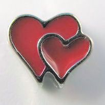 FloatingCharmLockets.com - Heart Double Red (Silver Base) Floating Charm, $1.75 (http://stores.floatingcharmlockets.com/heart-double-red-silver-base-floating-charm/?page_context=category