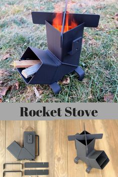 Rocket Stove with *Removable top and Self Feeding* Camping Stove Wood Stove Emergency Stove Survival Portable Outdoor fire hack Rocket Stove Design, Diy Rocket Stove, Rocket Stoves, Outdoor Stove, Outdoor Fire, Outdoor Decor, Jet Stove, Best Camping Stove, Wood Burner