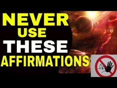3 Dangerous Affirmations That Are Blocking The Law of Attraction | Words Stop You From Attracting - YouTube