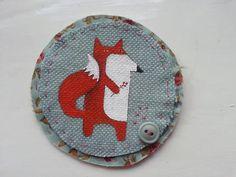 Fox brooch, woodland fox, textile fox, fox lover