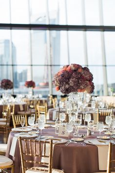 luxury nashville wedding at the country music hall of fame table design and floral toppers