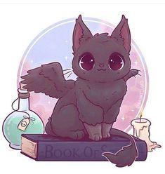 🍁✨Another kitty Witches familiar! This time w. Cute Kawaii Animals, Cute Animal Drawings Kawaii, Art Kawaii, Art Mignon, Creature Drawings, Halloween Drawings, Halloween Halloween, Cat Drawing, Drawing Ideas