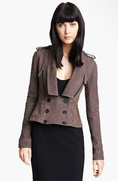 $3,195, for a coat!?!? Burberry Prorsum Nappa Suede Jacket available at #Nordstrom