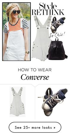 """How to wear overall!"" by m-zineta on Polyvore featuring Converse"