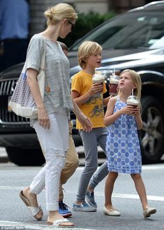 Together again: The Gossip Girl star was reunited with her children after a judge in Monac...
