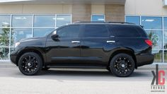 KC Trends - Showcase - XD Hoss wheels in full gloss black mounted on a Toyota Sequoia. Toyota Trucks, Toyota Cars, Toyota Sequioa, Truck Mods, Asian Market, Custom Wheels, Wheels And Tires, Dream Garage, Cool Cars