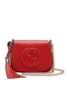 Soho Leather Chain Crossbody Bag, Red by Gucci at Neiman Marcus.