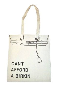 Can't afford a Birkin canvas tote bag DIY