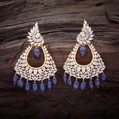 Zircon Blue Sapphire Earring