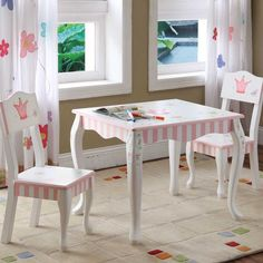 Princess and Frog Kids' Table and Chair Set