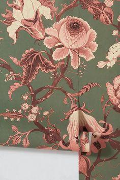 House of Hackney Artemis Wallpaper Of Wallpaper, Designer Wallpaper, British Traditions, Romantic Flowers, Textile Fabrics, Ceiling Height, Periwinkle Blue, William Morris, Artemis
