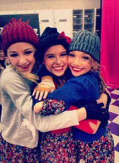 """Chloe, kalani, and maddie in group dance  costumes """"riches to rags"""""""