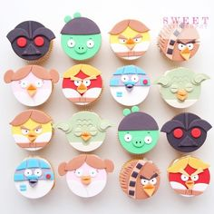 Star Wars Angry Birds cupcakes