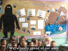 Fantastic 'The Lonely Beast' by Chris Judge picture book display at Liscard Primary school, Wirral.