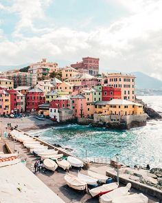 Boccadasse - a cute little fishing village attached to the city of Genoa, Italy.