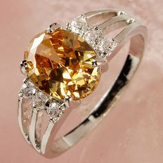 925 Sterling Silver Plated Morganite and Topaz Gemstone Ring Size 7  Stk# 2278 by DesignsbyDianaB on Etsy