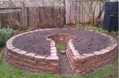 How to build a keyhole garden, step by step- for a later date perhaps.