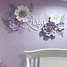 "169 Likes, 15 Comments - Mayra (@creationsbymayra) on Instagram: ""Client share. This is how my client displayed some of the flowers I made for her baby's nursery.…"""