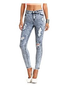 Skin Tight, High-Waisted, Skinny Jeans & Jeggings: Charlotte Russe