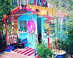kid's pirate summerhouse Garden Makeover, Beach Huts, Home On The Range, Secret Places, Garden Ideas, Fair Grounds, Fun, Travel, Garden Cottage