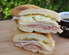 Try this classic Cuban sandwich, Medianoche at Porto's in Burbank (or any of their other locations in Los Angeles) made with roast pork, ham, mustard, Swiss cheese and dill pickles served on a soft sweet bread.