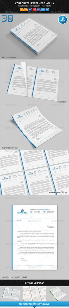 Corporate Letterhead Vol.14 with MS Word DOC/DOCX - Stationery Print Templates