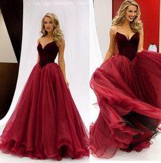 Long Red Prom Dresses, Mermaid Organza Prom Dress, Sexy Prom Dress, 2017 Prom Dress, Dresses For Prom, Fashion Prom Dress, 2017 prom dresses, 17078