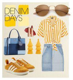 """Denim days"" by sophie-millar ❤ liked on Polyvore featuring 10 Crosby Derek Lam, Topshop, adidas Originals, Kate Spade, Eloquii and denimskirts"