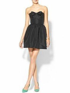 NWT RED VALENTINO STRAPLESS BOW DRESS BLACK 46 US 8