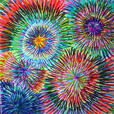 circle explosions 6 x 6 paper.koosh balls anyone? these are all turning out so very cool.i was worried for awhile. Fireworks Art, Fireworks Pictures, New Year Fireworks, Fourth Of July Crafts For Kids, Classe D'art, Art Sub Plans, Mandala, 3rd Grade Art, Ecole Art