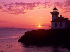 Sunset at Lime Kiln Lighthouse, San Juan Island.  http://imgc.artprintimages.com/images/art-print/jamie-judy-wild-lime-kiln-lighthouse-entrance-to-haro-strait-san-juan-island-washington-usa_i-G-22-2244-W94ZD00Z.jpg