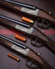 gentlemanbobwhite.tumblr.com  Matched set of Westley Richards droplock Shotguns in 20 gauge, 28 gauge and .410 gauge
