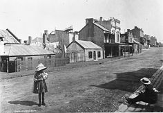 Looking South Down Princes Lane, The Rocks - Sydney, Australia, 1900 The Rocks Sydney, Museum Collection, Historical Pictures, Hotels And Resorts, Luxury Hotels, Sydney Australia, Old Photos, Old Things, South Wales