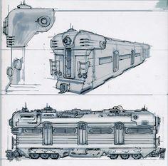 SubwayT01 (Adam Adamowicz, 2010) Fallout Concept Art, Fallout Art, Fallout New Vegas, Space Knight, Train Drawing, Train Illustration, Bioshock Cosplay, Fandom, Popular Art