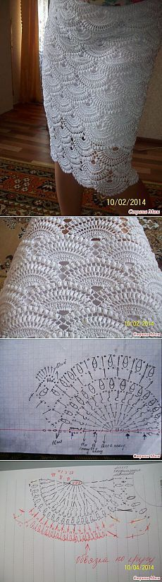 Crochet skirt: baseado Saia Giovanna Diaz See other ideas and pictures from the category menu…. Gilet Crochet, Crochet Motif, Crochet Designs, Crochet Lace, Crochet Stitches, Doilies Crochet, Crochet Skirts, Crochet Clothes, Crochet Crafts