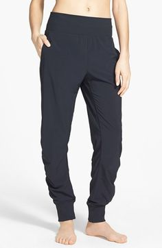 Zella 'Desire' Shirred Low Rise Pants | Nordstrom