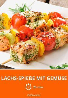 Lachs-Spieße mit Gemüse - smarter - Zeit: 20 Min.   eatsmarter.de