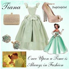 Disney Style: Tiana (Disney Princess Designer Collection), created by trulygirlygirl on Polyvore