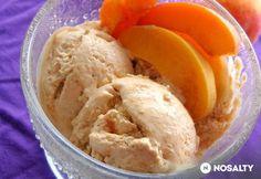 Sárgabarack fagylalt | NOSALTY Frozen Yogurt, Sorbet, Fudge, Food And Drink, Ice Cream, Dishes, Recipes, Puding, Summer