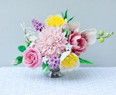 Sugar Flower arrangement by Lulu's Sweet Secrets.
