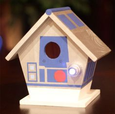The R2-D2 motif makes anything instantly cooler. Even a birdhouse.  Check out other nerdy designs at NirdHaus.