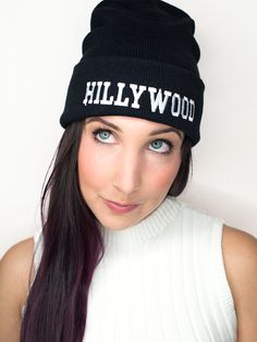 Image of Hillywood Black Beanie