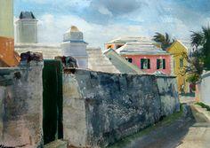 bermuda art   Ogden Minton Pleissner, Silk Alley, c.1950