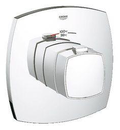 Grohe 19 940 Grandera Thermostatic Shower Trim for Custom Shower - Requires Sepa