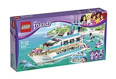 Lego Friends Dolphin Cruiser 41015 Toy Boat Ship Mia Brand Maya Andrew Yacht New Lego Friends, Lego City, Toys For Girls, Kids Toys, Top Gifts, Best Gifts, Cruiser Boat, Imagination Toys, Buy Lego